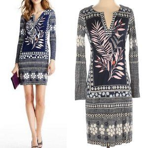 Diane Von Furstenburg Reina Long Sleeve Silk Dress